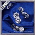 Ventas Directas de Fábrica Ronda Brillante Corte de Color Blanco Moissanite Diamante para Anillo de Joyas