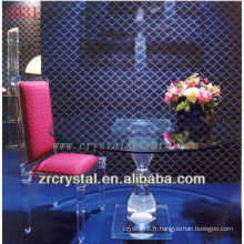 K9 Crystal Table et chaise pour la décoration de la maison