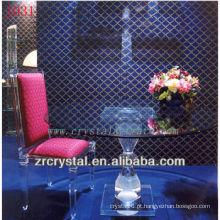 K9 mesa de cristal e cadeira para decoração de casa