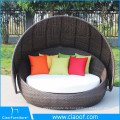 China Supplier Unique Design Outdoor Hotel Patio Rattan Wicker Sunbed