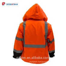2018 Factory Wholesale Winter Hi Vis Workwear Parka Ansi Class 3 High Visibility Safety Jacket