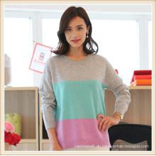 100% mongolische Cashmere Frauen Langarm Pullover Pullover