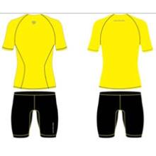 Camisetas de manga corta sublimizadas amarillas