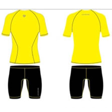 Stock Yellow Sublimated Short Sleeve Shirts