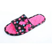 Velour avec imprimé pour pantoufles intérieures chaudes pour femmes