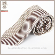 Wholesale dot and strips designer custom print silk tie