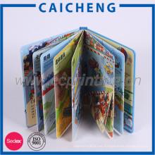 Libro de colores de niños de tapa dura con embalaje de caja de regalo