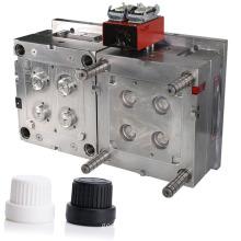 shenzhen injection molding maker precision plastic screw caps mould 2 cavities hot runner cap mold