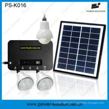 4W Portable Solar-Home-System mit 3 PCS 1W Lampe und Handy-Ladegerät