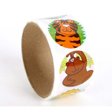 Animal Custom Full Color Printed Paper roll Sticker