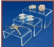 3 Clear Acrylic Jewelry Display Showcase Fixtures