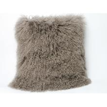 Long Hair Mongolian Lamb Fur Skin Pillow