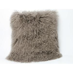 Long Hair Mongolian Lamb Fur Skin Kudde