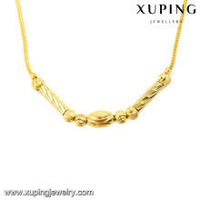 42996 Xuping Jewelry dubai 24k bijoux de couleur or femmes collier simple bijoux