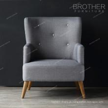 Mobiliário de casa sala de estar único assento acento cadeiras com braços