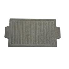 Revestible natural Lava bistec Parrilla Placa de piedra placa de barbacoa cuadrada