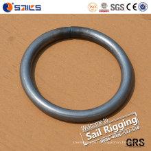 Bague ronde soudée en acier au carbone