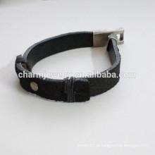 Moda Pulseira de couro pulseira de moda simples Splice tipo pulseira PSL027