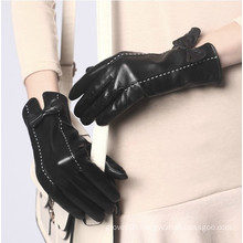 ZF100 hot sale lady fashion dress leather driving gloves