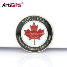 Выполненный на заказ сувенир памятным знаком безопасности канадский кленовый лист золотые монеты