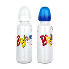 240ml 8oz Food Grade Silicone Nipple Infant clear glass milk baby feeding bottle