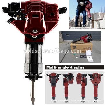 52cc 1700w 20-55J Casque à béton Hammer Breaker Portable Gasoline Jack Hammer