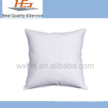 hotel usage white cotton fabric cushion pillow filled with microfiber