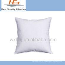 almofada branca do coxim do tecido de algodão do uso do hotel enchida com o microfiber