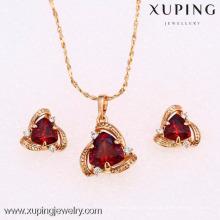 62269-Xuping Nice jewelry fashion triangle jewelry set alloy