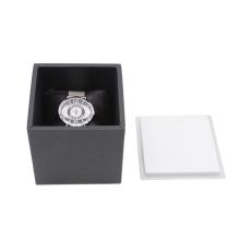Custom Logo Modern Luxury Single Paper Cardboard metal lid Wrist Watch Box Packaging For Gift