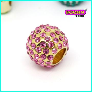 2016 nouvelle mode en alliage personnalisé cristal Snack Bracelet perle breloque