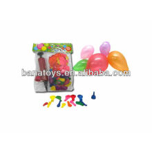 Colorful water balloon with balloon pump