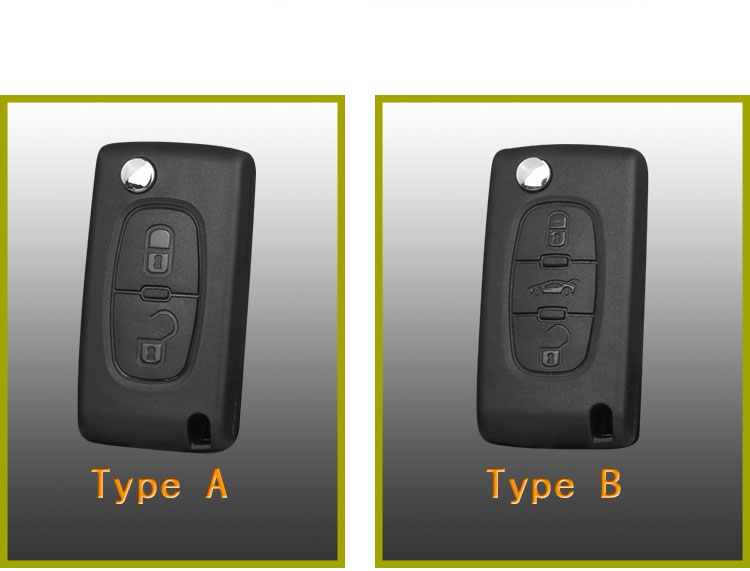 Peugeot silicone car key case.