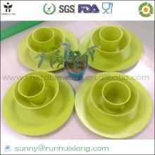 Набор столовой посуды из бамбукового волокна для путешествий