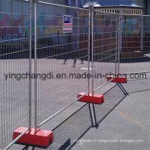 Clôture démontable galvanisée / clôture provisoire galvanisée bon marché / clôturage provisoire de yard