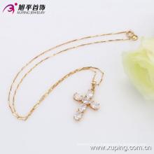 Pingente de cruz de zircão de luxo banhado a ouro de moda 18k Xuping (32315)