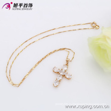 Xuping мода 18k позолоченный роскошные циркон крест Кулон (32315)
