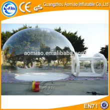 PVC/TPU inflatable clear dome camping bubble tent for sale