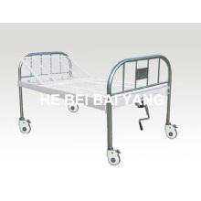 A-138 Mobilier tout le lit à usage hospitalier à usage unique en plastique et à pulvérisation