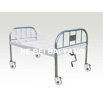 A-138 Movable All Plastic-Sprayed Single Function Manual Больничная кровать