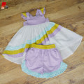 baby girls boutique rainbow high low clothing set
