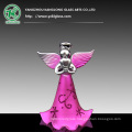 Colored Glass Angel (Pink spray)