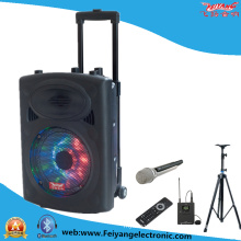 10inch Multi-Colored Light Wireless Bluetooth Trolley Battery Speaker F607D