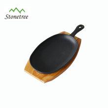 Sartén al por mayor de los utensilios de cocina del restaurante sartén / sartén antiadherente del arrabio / sartén del sartén del arrabio para asar a la parrilla
