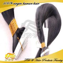 2015 Vente Chaude En Gros 100% Remy Vierge Pas Cher 7A Indien Tape Cheveux Extension