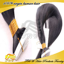 2015 горячая Распродажа Оптовая продажа 100% Remy девственницы дешевые 7A Индийский волосы ленты расширения