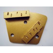 Splite PCD Grinding Pad avec 2 segments rectangulaires