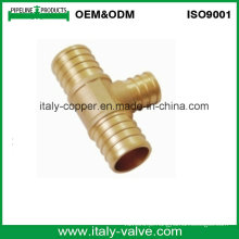 Personalizado latão de crimpagem redutor tee / latão pex cripm montagem tee (IC-1001)