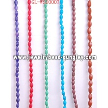 Stone bead jewelry with dyed color