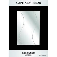 Espelho de prata do banheiro de vidro de 4mm (AMG-028)